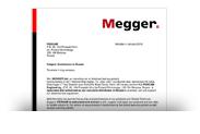 Эксклюзивный сертификат MEGGER