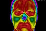 Инфракрасное изображение лица человека