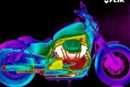 Мотоцикл на ик-изображении
