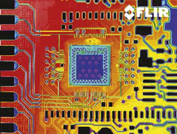 Тепловизионное изображение микропроцессорной платы