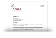 Авторизационное письмо DRS Technologies