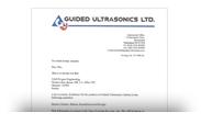 Авторизационное письмо GUIDED ULTRASONICS LTD