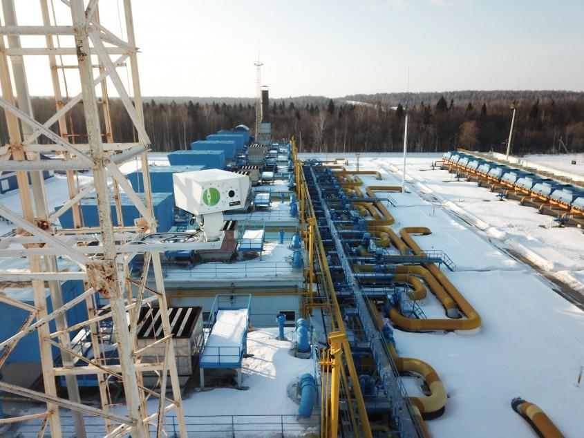 Лазерный детектор метана на компрессорной станции