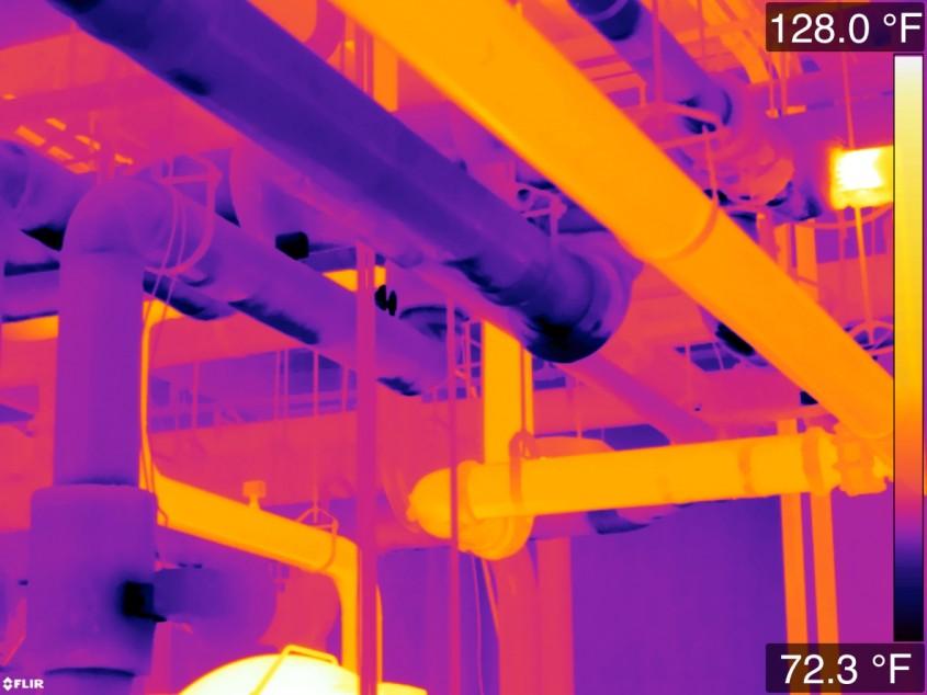 Проверка изоляции труб тепловизором